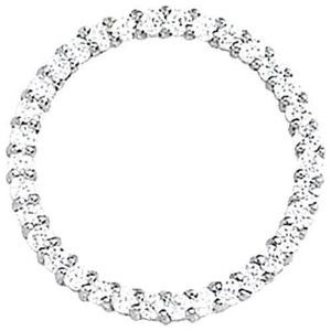 Approx. 1.02 Carat Diamonds Circle Pendant White G